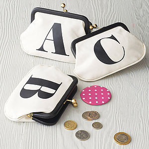 Initial Coin Purse - secret santa gifts