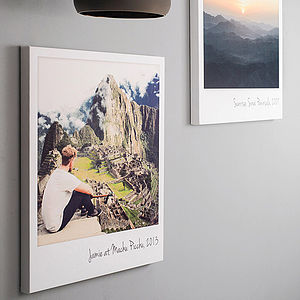 Personalised Giant Polaroid Canvas Print - art & pictures