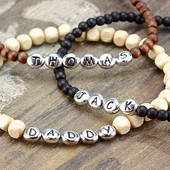 Personalised Men's Name Bracelet