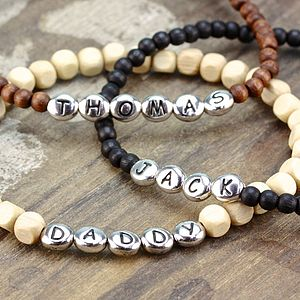 Personalised Men's Name Bracelet - stocking fillers under £15