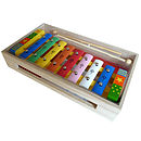 Wooden Xylophone With Song Sheet And Box