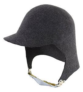 100% Wool Felt Aviator Hat - hats, scarves & gloves