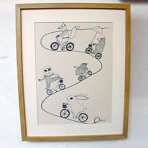 Cycling Adventure A3 Screen Print