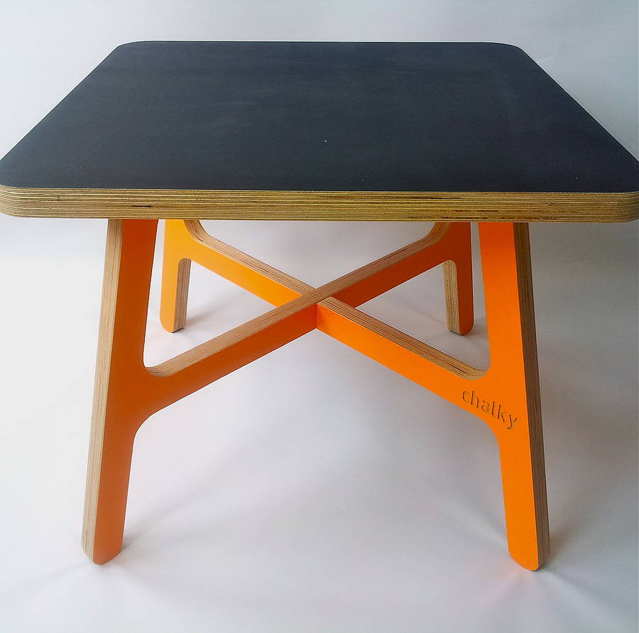 Lovely Chalky Table In Orange