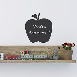 Mini Apple Chalkboard Wall Sticker - wall stickers