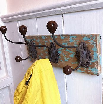 Green Baroque Distressed Hook Board