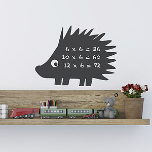 Mini Hedgehog Chalkboard Wall Sticker - wall stickers