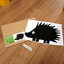 Mini Hedgehog Chalkboard Wall Sticker