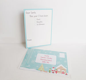 Letter To Santa Postcard - cards & wrap