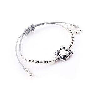 Heart And Beaded Adjustable Bracelet