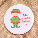 Christmas Elf Personalised Mini Jute Sack