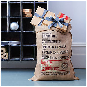 Personalised Sandhurst Christmas Sack