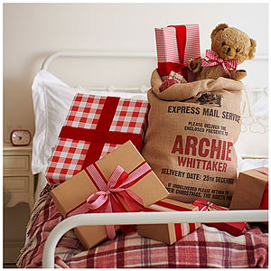Personalised Christmas Sack - christmas decorations