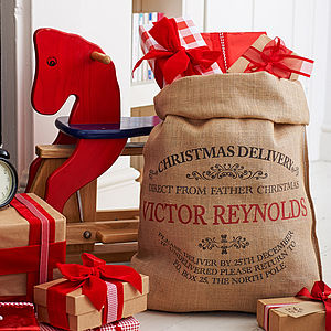 Personalised Ampleforth Christmas Sack - christmas delivery gifts for children