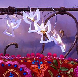 White Angel LED Battery Powered Fairy Lights - lighting