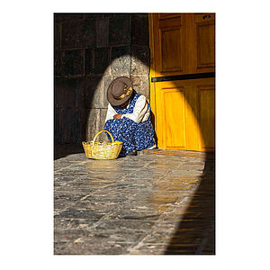 Cusco, Peru Street Seller Print - affordable art