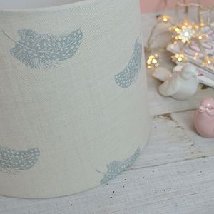 Falling Feathers Handmade Drum Lampshade - dining room