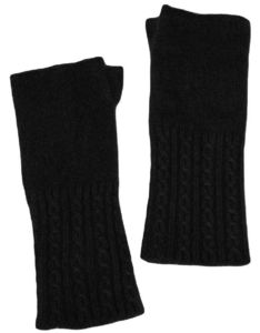 Cashmere Cable Wrist Warmers