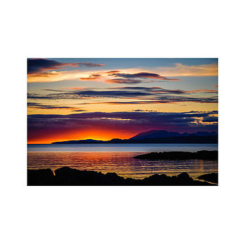 Sunset Over Skye Print