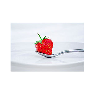 Strawberry On A Plate Print - food & drink prints