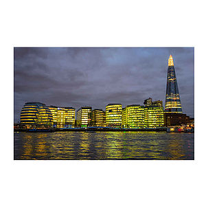 The Shard And City Hall, London Print - architecture & buildings