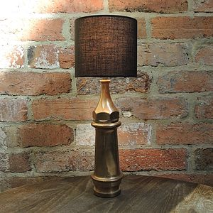 Upcycled Vintage Fire Nozzle Lamp - stationery & desk accessories