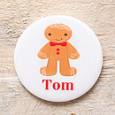 gingerbread boy badge