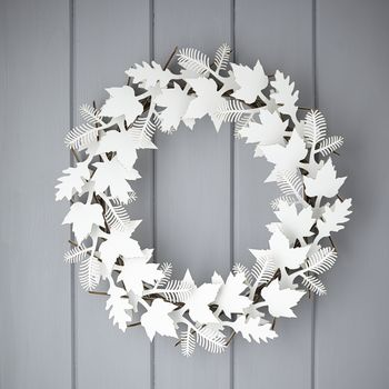 Cardboard Leaf Wreath