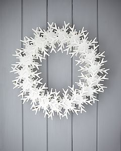 Cardboard Snowflake Wreath - room decorations