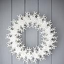 Cardboard Snowflake Wreath