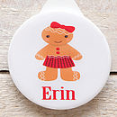 gingerbread girl key ring