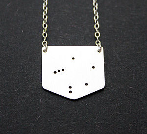 Shield Shaped Zodiac Constellation Necklace - celestial jewellery