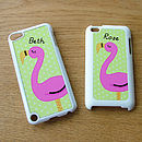 Personalised Flamingo iPod Touch Cover