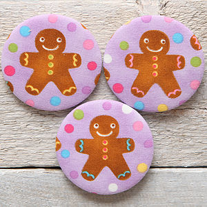 Gingerbread Man Christmas Handbag Mirror - compact mirrors