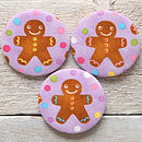 Gingerbread Man Christmas Handbag Mirror