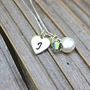 Personalised Pearl And Silver Heart Necklace