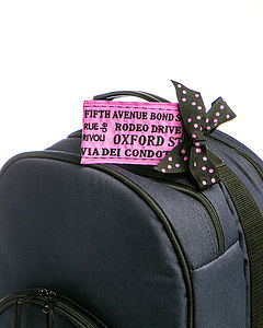 Women's Famous Streets Luggage Tag - bags & purses