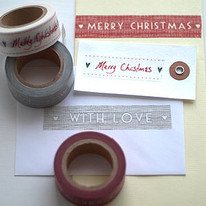 Set Of Christmas Wrapping Tape - cards & wrap