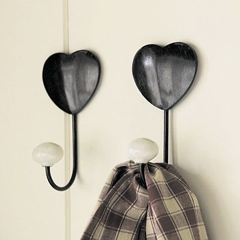 Country Heart Hook Set Of Two