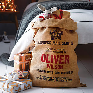 Personalised Christmas Sack - traditional christmas