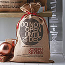 Personalised Bryanston Christmas Sack
