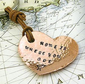 'Home Is Where You Are' Handmade Keyring