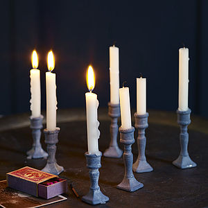 Mabel Miniature Candlesticks, Set Of Two - candles & candlesticks