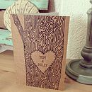 Personalised Tree Trunk Card