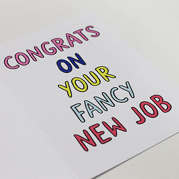 'Congrats On Your Fancy New Job' Card