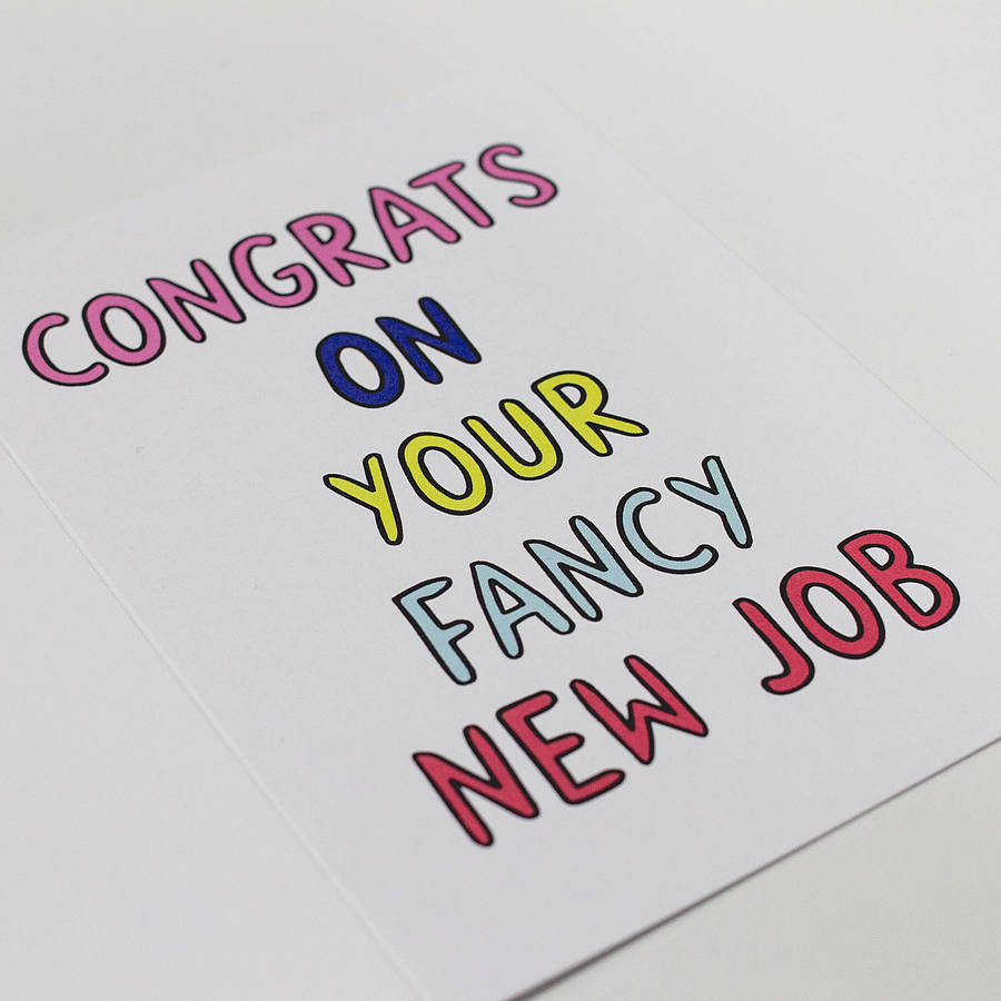 Congratulations new job card erkalnathandedecker 39 congrats on your fancy new job 39 card by dearly m4hsunfo