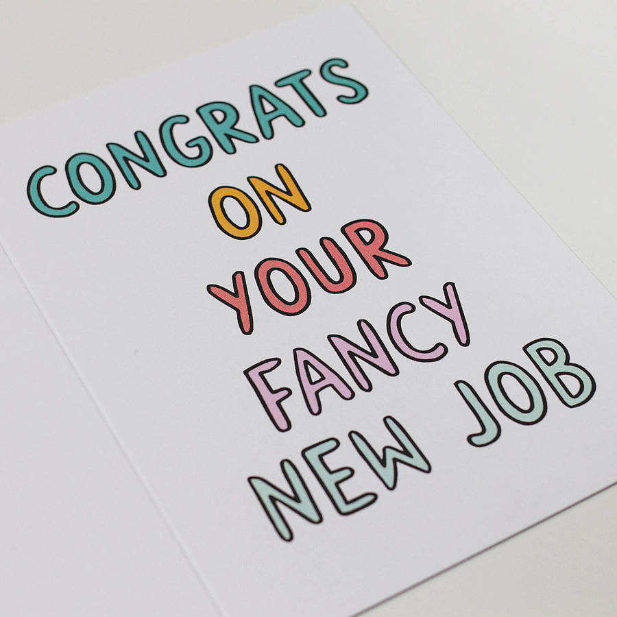 u0026 39 congrats on your fancy new job u0026 39  card by veronica dearly