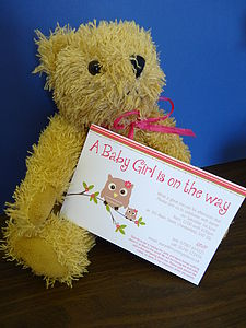 Set Of Eight Baby Shower Invitations