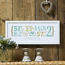 Personalised Wedding Coordinates Print