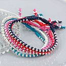 Silver Ball Friendship Bracelet
